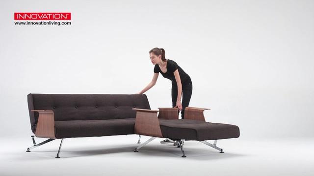 Innovation Schlafsofa Clubber Mit Modernen Armlehnen In Walnuß