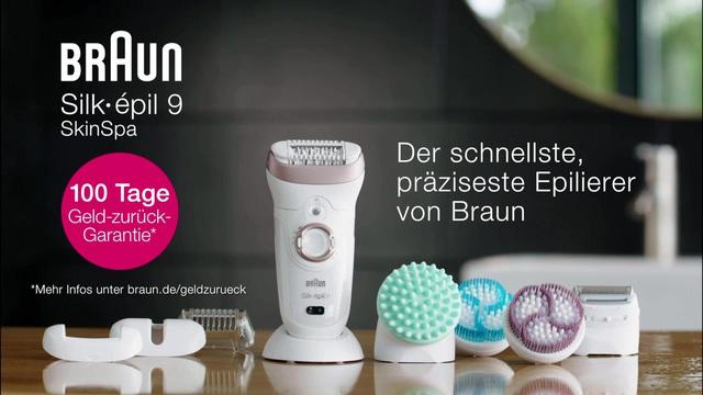 Braun Silk-épil 9 Skin Spa 9-961v Wet /& Dry Epilierer mit 12 Extras