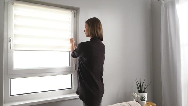 Interessant Doppelrollo, my home, »Marano«, Lichtschutz, Fixmaß, ohne Bohren  UA48