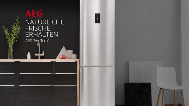 Aeg Kühlschrank Gefrierkombination Einbau : Aeg kühl gefrierkombination rcb63831nx 200 5 cm hoch 59 5 cm