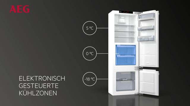 Aeg Kühlschrank Integrierbar 122 Cm : Aeg integrierbarer einbau kühlschrank santo sfe81226zf a 122 5
