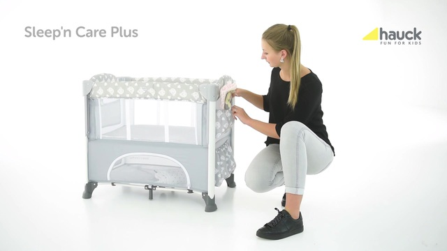 Hauck fun for kids beistellbett sleep`n care plus teddy grey