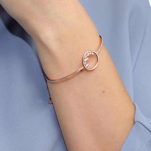 Swarovski Armreif »North, weiss, Rosé vergoldet, 5493393«, mit Swarovski® Kristallen online kaufen | OTTO
