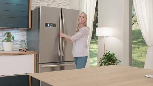 Kühlschrank Hoch : Hanseatic french door kühlschrank hfd 17690a1s 176 cm hoch 90 2 cm
