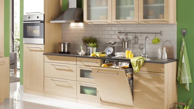 Küchenzeile, HELD MÖBEL, »Malta«, mit E-Geräten, Breite 210 cm ...