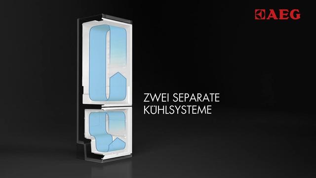 Aeg Kühlschrank Einbau : Aeg einbau kühl gefrierkombination santo scn s a cm