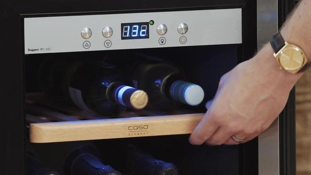 CASO Design Weinkühlschrank »WineComfort 38«, Höhe 102,5 cm, für 38 ...