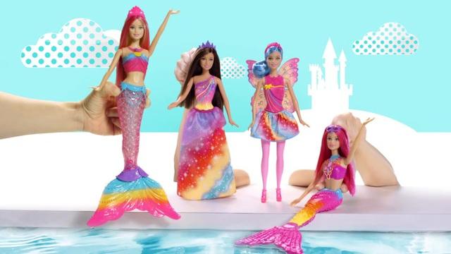 Mattel, Puppe mit Lichteffekten, »Barbie Regenbogenlicht ...