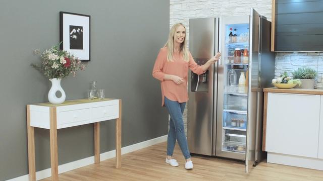 Side By Side Kühlschrank Integrierbar : Samsung side by side foodshowcase rh57h90707f eg a 177 4 cm