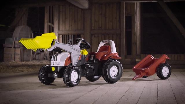 Rolly toys® trettraktor mit frontlader und anhänger »rollykid steyr
